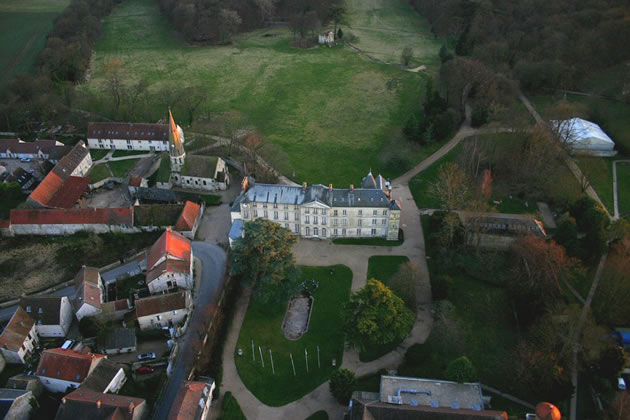 Jambville from above